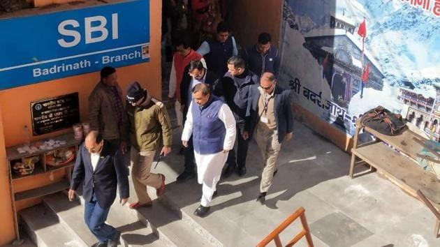 Mukesh Ambani reaches Badrinath on October 26, 2019(HT Photo)