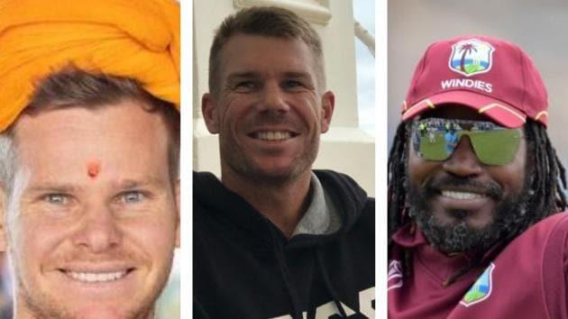 Steve Smith, David Warner and Chris Gayle(HT Collage)