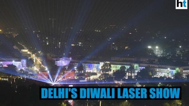 A four-day Diwali-themed laser show began in the national capital on Saturday. The 'Dilli ki Diwali' event is aimed at curbing the use of firecrackers on Diwali in a city plagued with heavy air pollution. Delhi Chief Minister Arvind Kejriwal, Deputy Chief Minister Manish Sisodia and Lieutenant Governor Anil Baijal were present at the event. The venue of the programme is the Central Park of Delhi's Connaught Place. The show is slated to run till October 29, 2019.