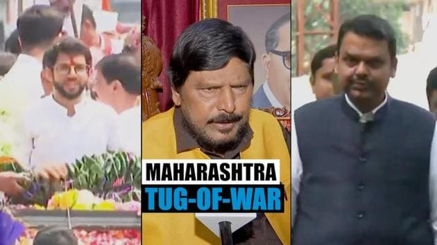 Amid a tug-of-war between the BJP and Shiv Sena over government formation in Maharashtra, RPI leader Ramdas Athawale has said that Sena should accept the Deputy CM post for Aaditya Thackeray. Shiv Sena has demanded implementation of the 50:50 formula, which they say was agreed to before the polls. Shiv Sena won 56 seats in the 288-member Maharashtra assembly, while BJP won 105 seats. Sena has demanded a written assurance over sharing power equally including the Chief Minister's post.