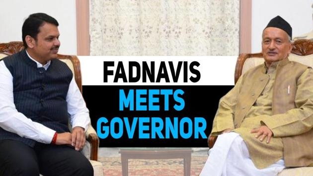 Devendra Fadnavis met Bhagat Singh Koshyari, the Governor of Maharashtra, on Monday. Tweeting about the meeting, Fadnavis said that he extended Diwali greetings and apprised Koshyari about the 'current scenario'. Half an hour before the Bharatiya Janata Party leader, a Shiv Sena member had met the Governor. Diwakar Raote said that he met Koshyari only to wish him for Diwali. Allies BJP and Sena are currently locked in a tussle to decide the power-sharing formula in Maharashtra. BJP secured 105 seats, while Sena won 56, in the recently concluded Assembly elections.