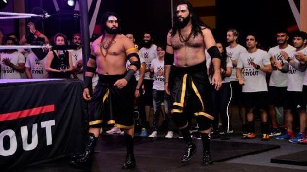 A file photo of Rinku Singh (L) and Saurav Gurjar.(WWE)