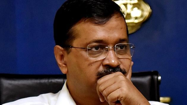 Delhi Chief Minister Arvind Kejriwal during a press conference.(ANI)
