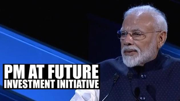 Prime Minister Narendra Modi delivered the keynote address at the Future Investment Initiative in Saudi Arabia's Riyadh. At the forum, PM Modi laid emphasis on his government's aim of doubling Indian economy's value to $5 trillion in 5 years. Seeking greater flow of global capital to the nation, he said that investment in 'Indian innovation' would offer the 'highest returns'. The Prime Minister also spoke about the creation of a 'New India' by 2022, the 75th year of India's independence.