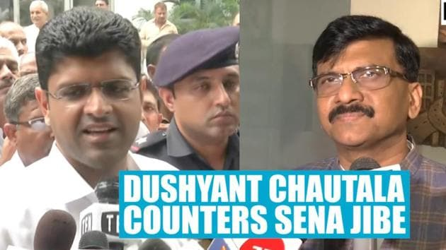 Dushyant Chautala hits back at Shiv Sena leader for jibe on his father