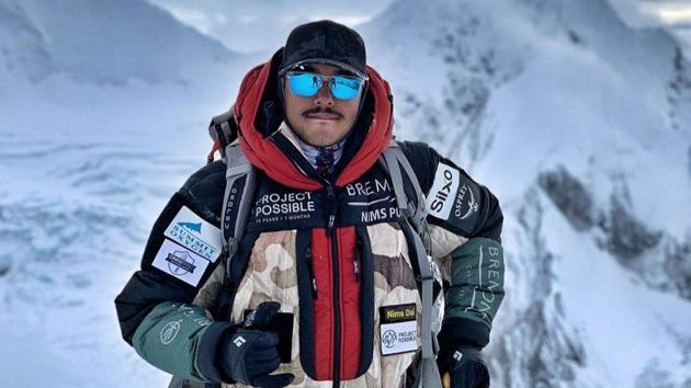 """The 36-year-old Nirmal Purja, a former member of the Gurkhas as well as the elite Special Boat Service, kicked off his ambitious """"Project Possible"""" in April.(Photo: @nimsdai/Twitter)"""