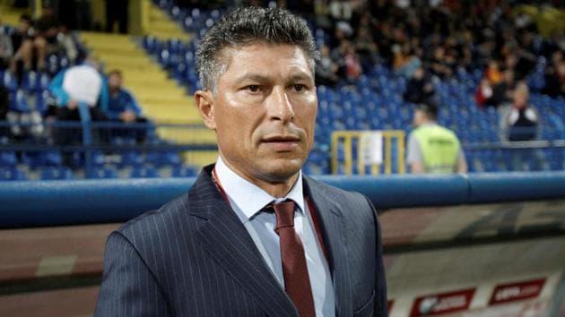 Bulgaria coach Krasimir Balakov before the match.(REUTERS)
