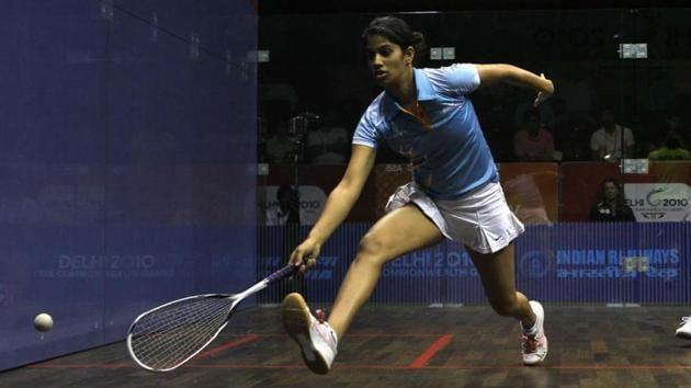 File image of Indian squash player Joshna Chinappa.(HT Photo)