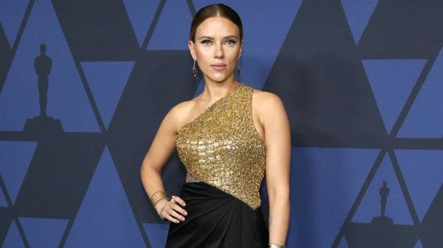 Scarlett Johansson stuns in gold, silver, shimmer and thigh-high slit gowns.(REUTERS/Mario Anzuoni)