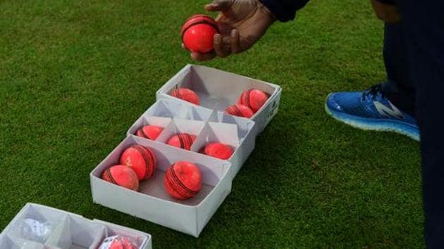 A box of pink balls during a nets session.(Getty Images)