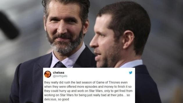 Game Of Thrones Fans Are Rejoicing After Creators Benioff And Weiss Lost Star Wars Job Hindustan Times