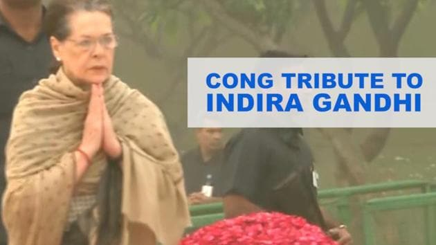 Former Prime Minister Manmohan Singh, Congress interim President Sonia Gandhi and several other top Congress leaders paid tributes to former PM Indira Gandhi on her death anniversary. The top Congress leaders gathered at the Shakti Sthal in the capital. Former President Pranab Mukherjee, former Vice-President Hamid Ansari also paid tributes to the former Prime Minister. Indira Gandhi was assassinated by her own bodyguards on October 31, 1984.