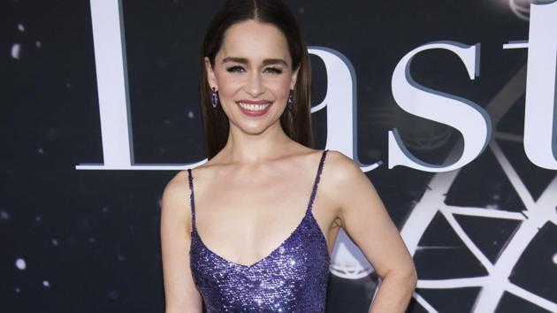 Emilia Clarke attends the premiere of Last Christmas at AMC Lincoln Square on Tuesday.(Charles Sykes/Invision/AP)