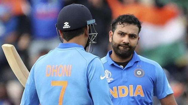 File image of India vice-captain Rohit Sharma and MS Dhoni.(AP)