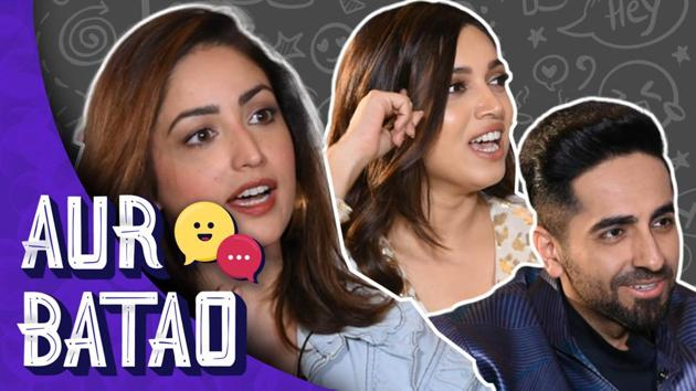 In the latest episode of 'Aur Batao' RJ Stutee speaks with Bollywood actors Ayushmann Khurrana, Yami Gautam, and Bhumi Pednekar on the film 'Bala'. Directed by Amar Kaushik, Bala features Ayushmann as a young bald man. The film is set to hit theatres on November 7. Watch the entire episode to know more. Aur Batao is not your regular photoshopped chat show but makes hanging out with celebs a different (and fun) ballgame.