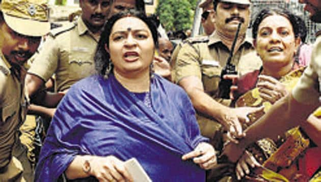 Late Tamil Nadu Chief Minister J Jayalalithaa's niece Deepa wants the court to restrain the AIADMK leader's biopic makers on ground that it may affect the privacy of her family.(PTI FILE PHOTO)