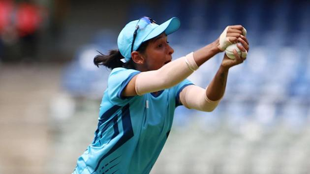 File image of Harmanpreet Kaur in action during a match.(BCCI Image)
