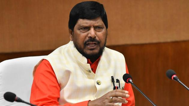 Athawale noted that the government formation was getting delayed due to the Sena and the BJP bickering over the top post.(HT Photo/Karun Sharma)
