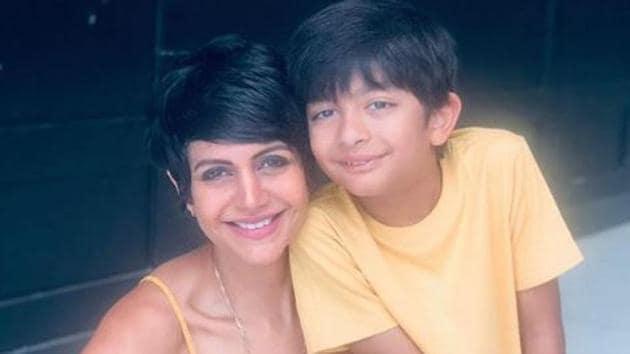 Mandira Bedi has an eight-year-old son with husband Rraj Kaushal.