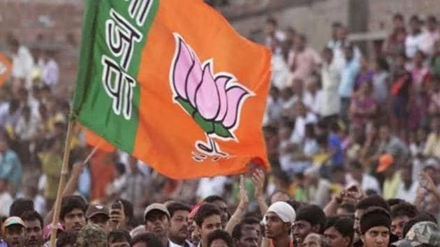BJP has not won any state elections since 2001 when party candidate H Raja contested successfully from the Karaikudi assembly seat.(HT File)