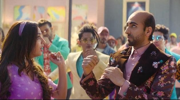 Yami Gautam and Ayushmann Khurrana in a still from Bala.
