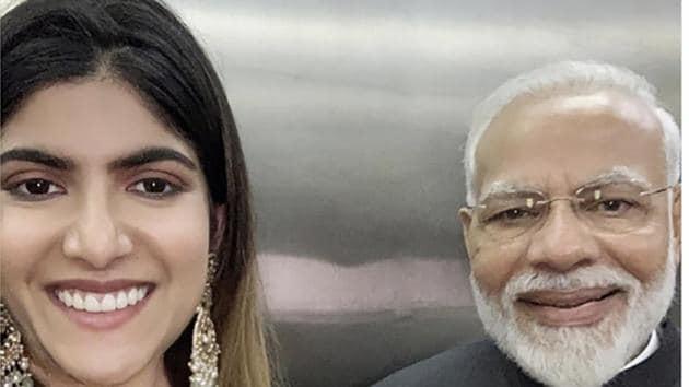 PM Narendra Modi with musician and philanthropist Ananya Birla(PHOTO: ANANYA BIRLA/INSTAGRAM)