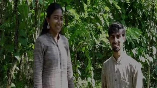 Chethan Koppa and Akshatha Kudla, a couple and teachers from Mangaluru enters 'Exclusive World Records' for alternative learning system.(ANI Photo)