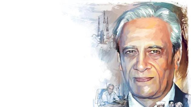 Satish Dhawan in 1972, succeeded Vikram Sarabhai as the chairman of Indian Space Research Organisation (ISRO).(ILLUSTRATION: Unnikrishnan)