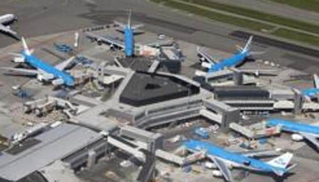 A pilot accidentally set off a hijack alarm on a plane at Amsterdam's Schiphol airport on Wednesday, triggering a huge security operation by Dutch police.(REUTERS)