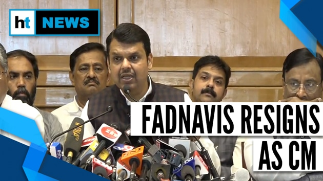 Maharashtra Chief Minister Devendra Fadnavis handed over his resignation to Governor Bhagat Singh Koshyari at a quick meeting on Friday evening, 15 days after the Bharatiya Janata Party-Shiv Sena combine secured a clear majority in last month's state elections.