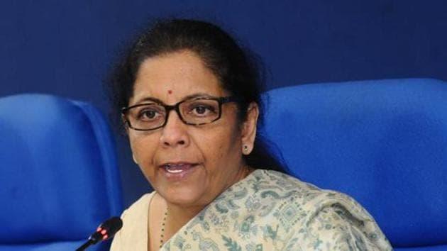 Union finance minister Nirmala Sitharaman at a press conference, New Delhi, November 6, 2019