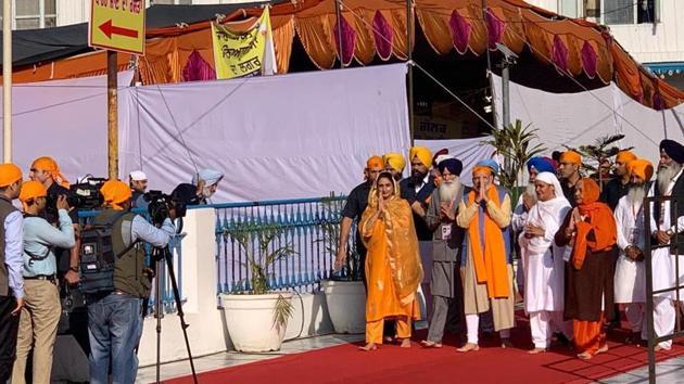 PM Modi will also see off the first batch of pilgrims to Gurdwara Darbar Sahib through the Corridor(HT Photo)