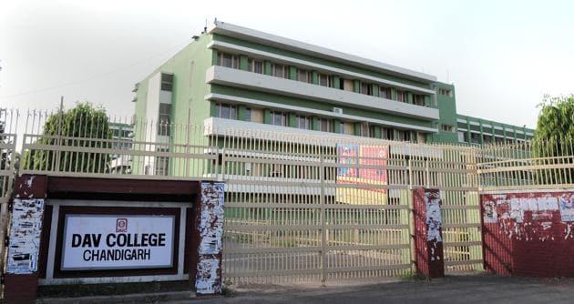 DAV College, Sector 10, in Chandigarh.(Ravi Kumar/HT)