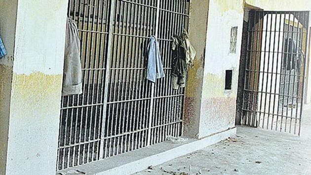 An inside view of the Tihar Jail, New Delhi. The India Justice Report 2019 gives state-wise rankings on various performance indicators of the four pillars: police, prisons, judiciary and legal aid(HT File Photo)