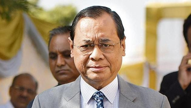 Chief Justice of India Ranjan Gogoi took the other members of the five-judge bench, which delivered the Ram Janmabhoomi-Babri Masjid judgment, to dinner on Saturday night.(Vipin Kumar/ Hindustan Times)