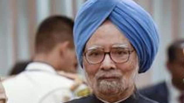 New Delhi: Prime Minister Narendra Modi, former prime minister Manmohan Singh, former vice president Hamid Ansari during a reception organised on the occasion of 73rd Independence Day, at Rashtrapati Bhavan in New Delhi, Thursday, Aug. 15, 2019. (PTI Photo/Atul Yadav)(PTI8_15_2019_000305B)(PTI Photo)