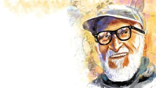 Salim Ali in 1941 published The Book of Indian Birds, which popularised ornithology among the common man.(Illustration: Mohit Suneja)