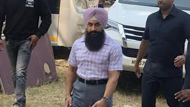 Aamir Khan was in Chandigarh for the shoot of Laal Singh Chaddha.(Instagram)