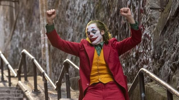 This image released by Warner Bros. Pictures shows Joaquin Phoenix in a scene from Joker.(AP)