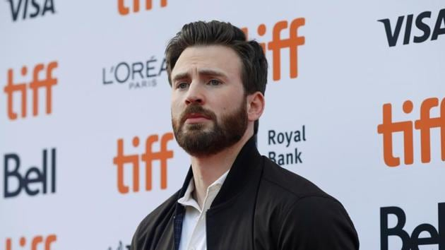 Cast member Chris Evans arrives for the special presentation of Knives Out at the Toronto International Film Festival (TIFF).(REUTERS)