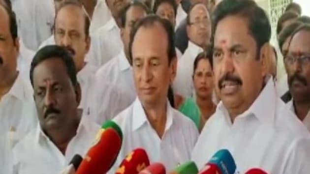 Tamil Nadu CM Edappadi K Palaniswami said the incident hasn't come to his knowledge yet.(ANI Twitter)