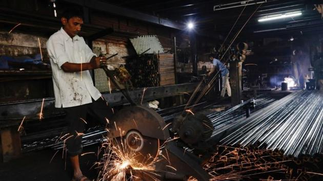 All components of industrial output—mining, manufacturing and electricity—fell during the month, pointing towards a deepening economic downturn.(Reuters File Photo)