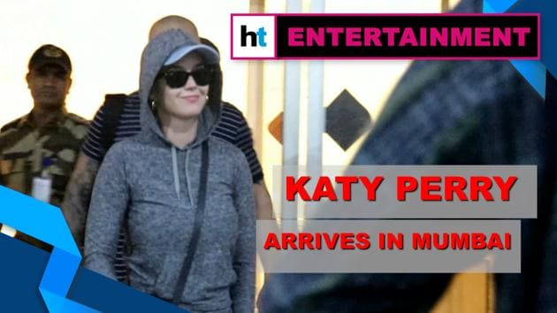 Pop star Katy Perry arrived in Mumbai as India is all set to witness her 'Roar' at the OnePlus Music Festival. Perry was spotted at the Mumbai Airport in a grey jumpsuit with striped flip flops. Director/Producer Karan Johar will be hosting a reception party for Perry before the concert. 'New Rules' singer Dua Lipa will also be performing at the festival.