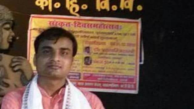 Dr. Firoze, who hails from a village near Jaipur in Rajasthan, says reading Sanskrit led to his intellectual growth(HT Photo)