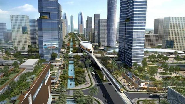 "A computer-generated representative photo of Andhra Pradesh's ""world class"" capital Amaravati .(AP government)"