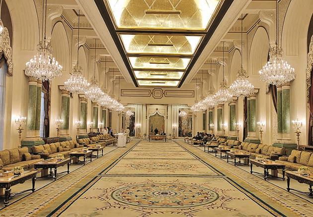 One of the halls at King Saud Guest Palace, restored few years ago, which is used to host visiting foreign dignitaries(Rezaul H Laskar)