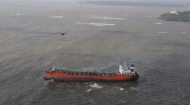 The grounded ship Nu Shi Nalini(HT Photo)
