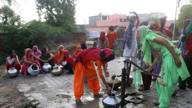 For instance, while SBM produced rapid gains in access to toilet facilities, latrines do not mean safe management of wastewater, and they don't enable reuse of waste water because the majority of urban and rural households depend on on-site sanitation systems.(Manoj Dhaka/HindustanTimes)
