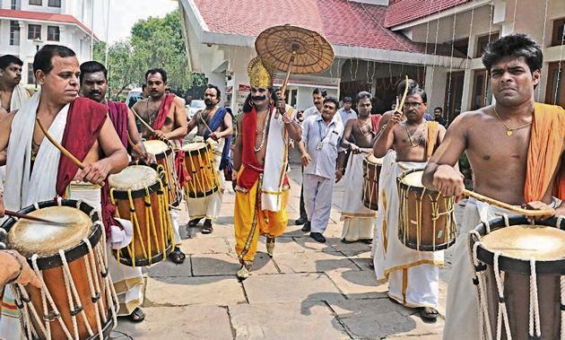 On Onam, Malayalis celebrate the annual return of good king Mahabali.(Sonu Mehta/Hindustan Times)