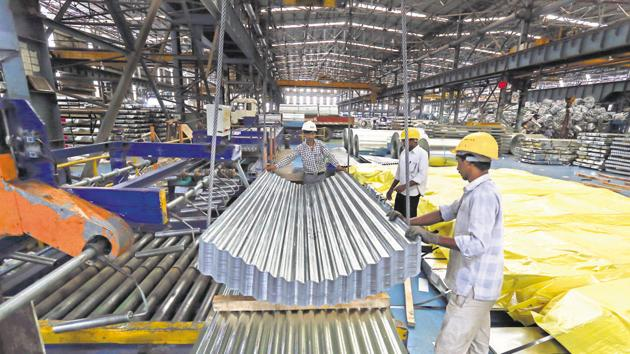 The Index of Industrial Production (IIP) has contracted for two consecutive months now.(Bloomberg File Photo)